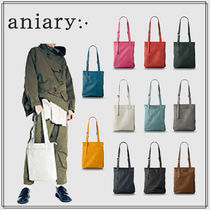 ANIARY 【aniary】Unisex 2WAY Plain Leather Shoulder Bags 23-02000