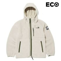 THE NORTH FACE Unisex Street Style Long Shearling Logo Jackets