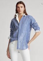 POLO RALPH LAUREN Stripes Casual Style Long Sleeves Office Style