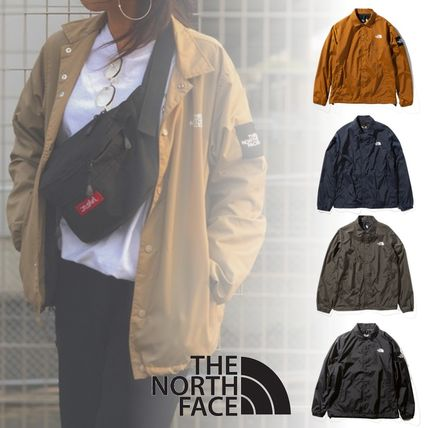 THE NORTH FACE Unisex Nylon Plain Coach Jackets Logo Coach Jackets
