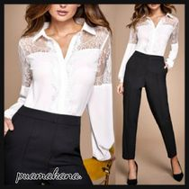 Lipsy Casual Style Long Sleeves Plain Party Style Lace