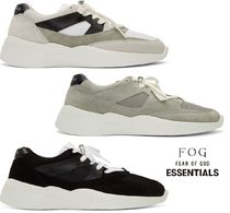 FEAR OF GOD ESSENTIALS Casual Style Unisex Suede Leather Low-Top Sneakers