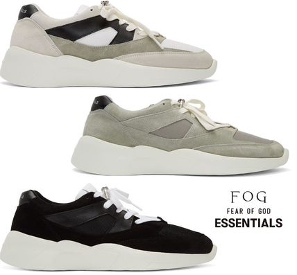 Casual Style Unisex Suede Leather Low-Top Sneakers