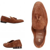 BRUNELLO CUCINELLI Plain Toe Loafers Plain Leather Loafers & Slip-ons