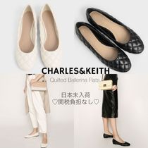 Charles&Keith Casual Style Faux Fur Plain Office Style Elegant Style Flats