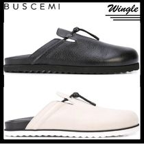 BUSCEMI Plain Leather Loafers & Slip-ons