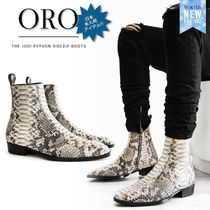 ORO LOS ANGELES Street Style Leather Python Boots