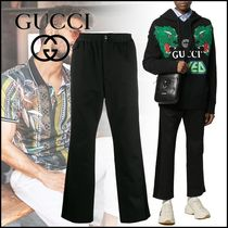 GUCCI Blended Fabrics Plain Cotton Cropped Pants
