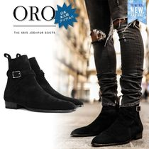 ORO LOS ANGELES Suede Street Style Plain Boots
