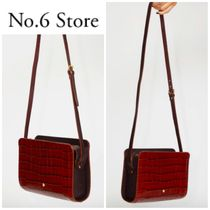 No.6 Store Casual Style Plain Leather Shoulder Bags