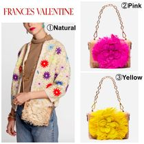 FRANCIS VALENTINE Flower Patterns Casual Style 2WAY Plain Leather