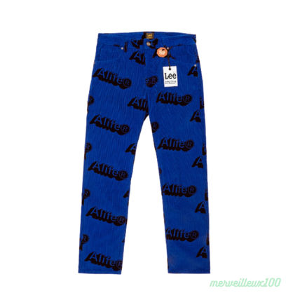 Tapered Pants Corduroy Street Style Collaboration Logo Jeans