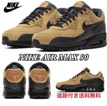 Nike AIR MAX 90 Unisex Street Style Plain Leather Sneakers