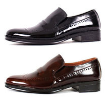 mooda Wing Tip Loafers Plain Leather Loafers & Slip-ons