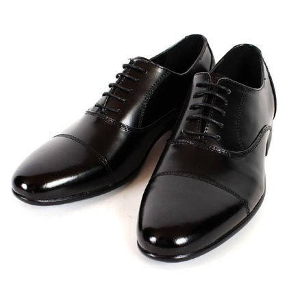 Straight Tip Loafers Plain Leather Loafers & Slip-ons
