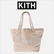 KITH NYC Casual Style Unisex Canvas Street Style Plain Totes