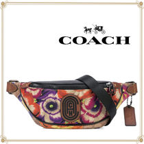 Coach Flower Patterns PVC Clothing Elegant Style Hip Packs