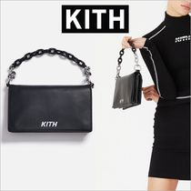 KITH NYC Casual Style Street Style Plain Leather Party Style Clutches