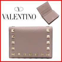 VALENTINO Studded Logo Folding Wallets