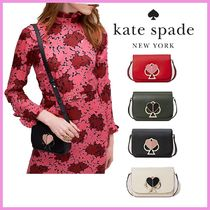 kate spade new york NICOLA Heart Casual Style 2WAY Bi-color Leather Party Style