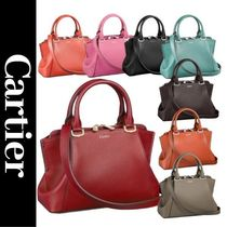 Cartier 2WAY Plain Leather Shoulder Bags