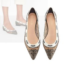 Christian Dior Casual Style Elegant Style Pointed Toe Pumps & Mules
