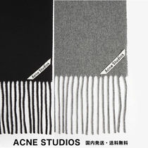 Acne Other Check Patterns Wool Knit & Fur Scarves