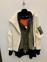 sacai Casual Style Wool Nylon Blended Fabrics Studded Street Style