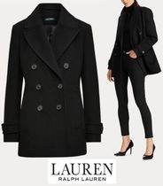 Ralph Lauren Wool Plain Medium Office Style Elegant Style Peacoats