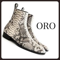 ORO LOS ANGELES Street Style Plain Other Animal Patterns Leather Python