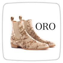ORO LOS ANGELES Street Style Plain Leather Boots