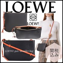 LOEWE GATE Casual Style Plain Leather Special Edition Elegant Style