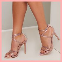 Chi Chi London Casual Style Plain Pin Heels Heeled Sandals