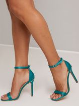 Chi Chi London Square Toe Plain Pin Heels Party Style With Jewels