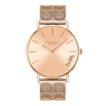 Coach Casual Style Round Quartz Watches Stainless Analog Watches