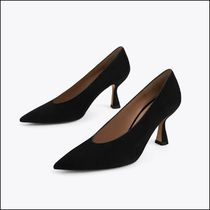 Uterque Casual Style Suede Plain Leather Party Style Elegant Style