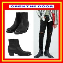OPEN THE DOOR Casual Style Unisex Street Style Plain Boots Boots
