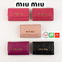 MiuMiu Leather Keychains & Bag Charms
