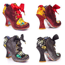 Irregular Choice Flower Patterns Round Toe Lace-up Casual Style