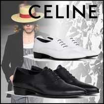 CELINE Loafers Plain Leather Loafers & Slip-ons