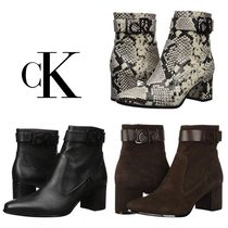 Calvin Klein Suede Leather Ankle & Booties Boots