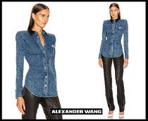 Alexander Wang Casual Style Denim Long Sleeves Plain Cotton