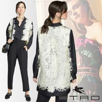 ETRO Casual Style Silk Bi-color Long Sleeves