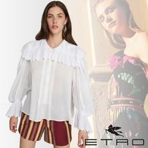 ETRO Paisley Casual Style Long Sleeves Medium Lace Elegant Style