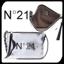 N21 numero ventuno Casual Style Plain PVC Clothing Shoulder Bags