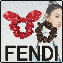 FENDI Barettes Scrunchy Casual Style Party Style Office Style