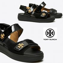 Tory Burch Open Toe Platform Rubber Sole Casual Style Street Style