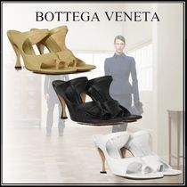 BOTTEGA VENETA Open Toe Casual Style Plain Leather Office Style