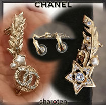 CHANEL ICON Costume Jewelry Star Casual Style Unisex Blended Fabrics