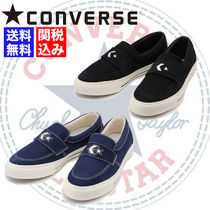 CONVERSE Loafers Unisex Suede Blended Fabrics Street Style Plain
